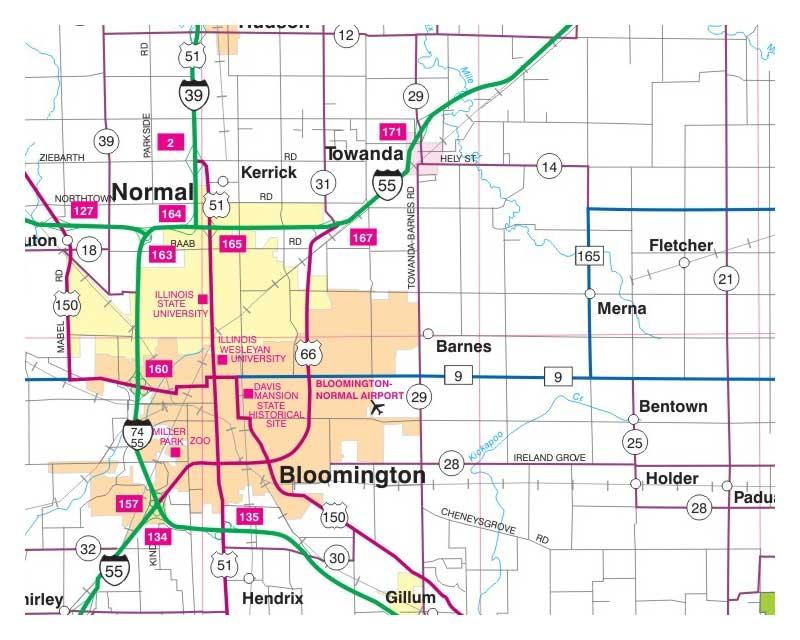 Milwaukee Map Illinois Folded Maps - Illinois road map