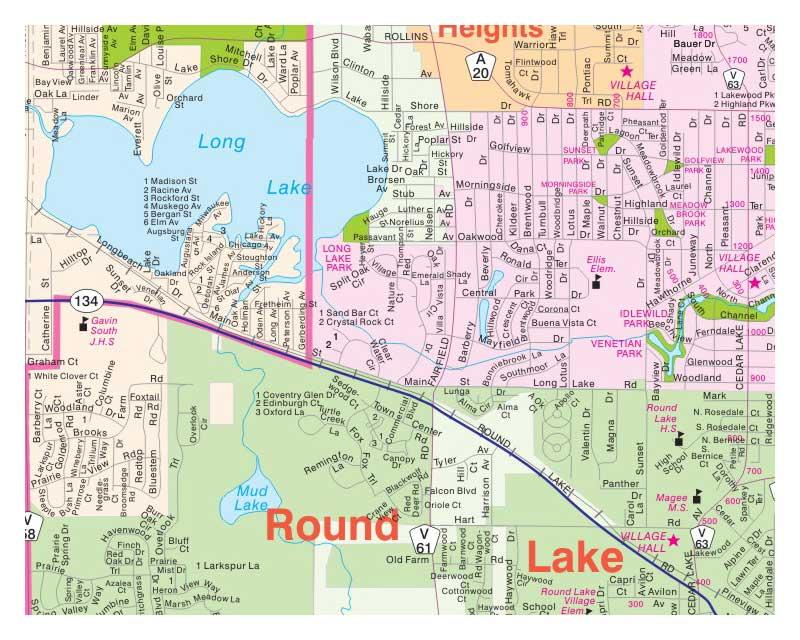 Milwaukee Map  Illinois Folded Maps