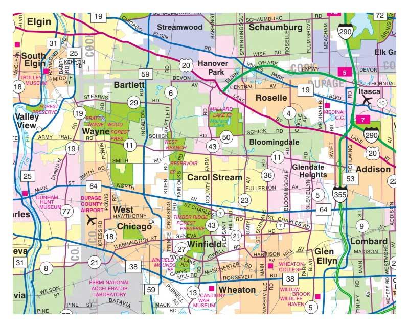 Milwaukee Map Illinois Folded Maps - Map of indiana and illinois