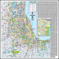 Northwest Chicago Map.Milwaukee Map Illinois Wall Maps