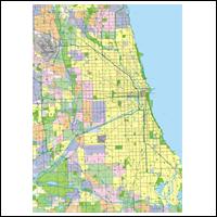 Milwaukee Map  Illinois Wall Maps