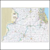 Milwaukee Map - Illinois Wall Maps